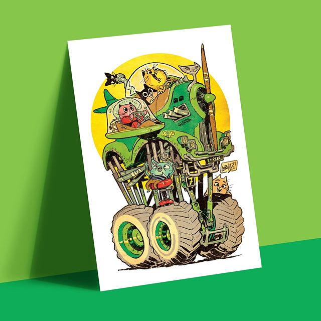 We print CATWAGON art prints