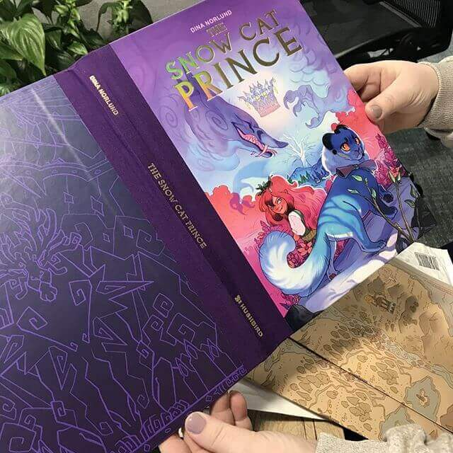 We print The Snow Cat Prince hardcover book