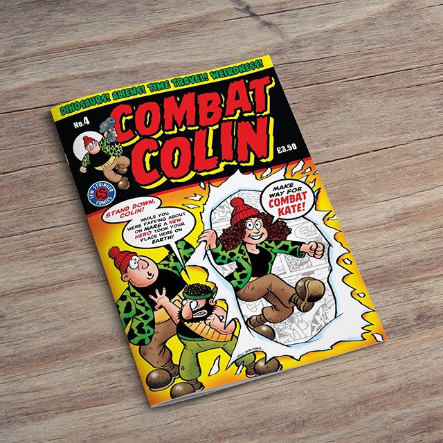 We print Combat Colin comic books