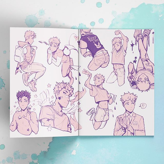 We print manga sketch logs