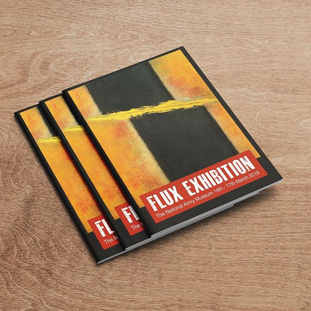 We print Flux Exhibition paperback books