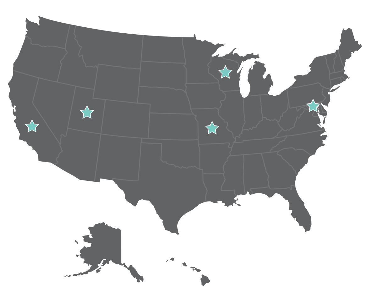 Our main offset print site is in Wisconsin, with other locations based in California and Missouri. All digital printing is processed at our centers in Maryland and Utah.