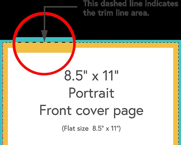 Enlarged illustration of the trim line