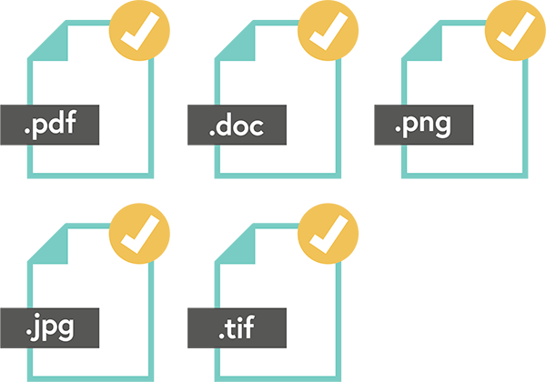 Supported file formats