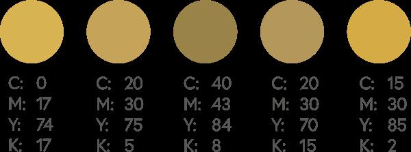 CMYK Golds 1