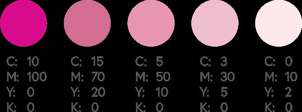 CMYK Pinks 2