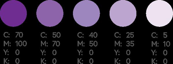 CMYK Purples 1