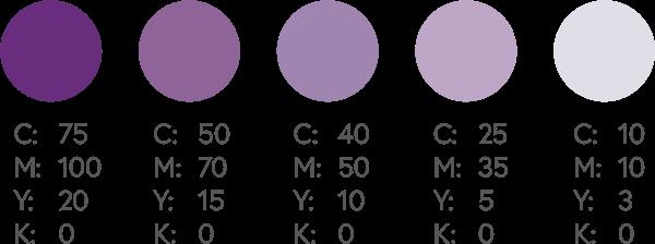 CMYK Purples 2
