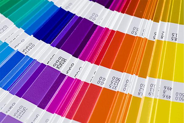 Spectrum of colour samples