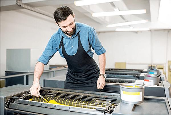 Litho printing process