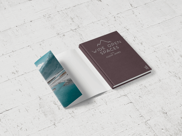 Hardcover book with a dust jacket partially attached
