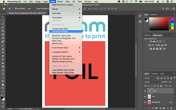 Creating a foil layer in Illustrator