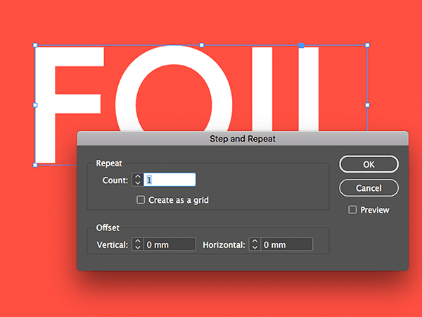 Using 'Step and Repeat' in Adobe InDesign