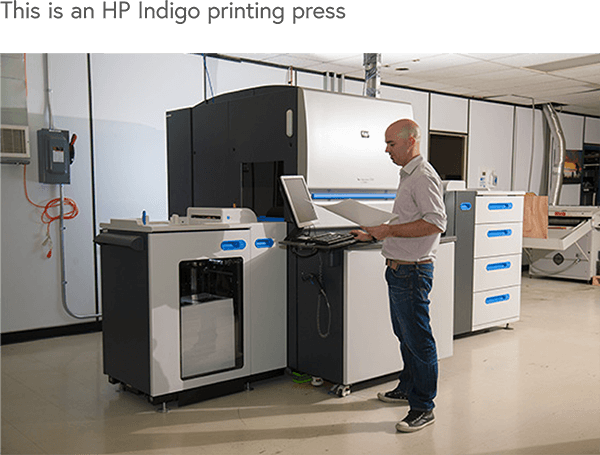 HP Indigo printing press