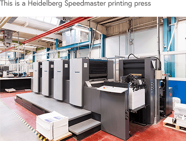 Heidelberg Speedmaster printing press