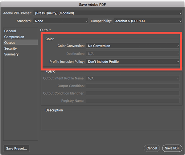 Choose 'No colour conversion' and 'Don't include profiles' in Photoshop