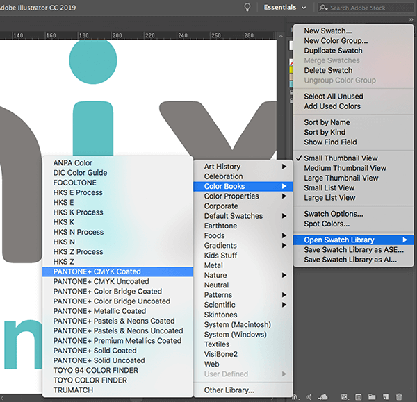 Adobe Illustrator user interface