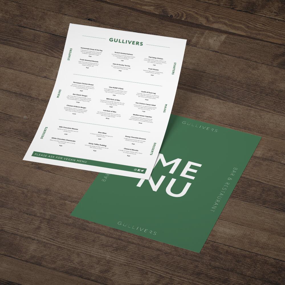 Online Menu Printing Service